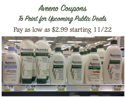 Aveeno Coupons To Print For Upcoming Publix Deals