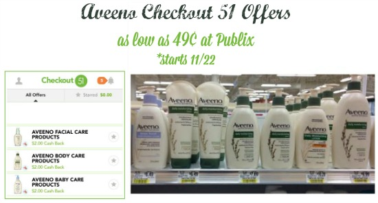 New Aveeno Checkout 51 Offers for Upcoming Publix Coupon - 49¢ Lotion