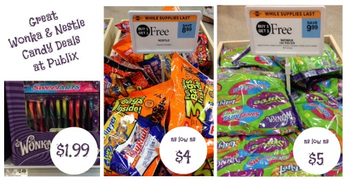 Wonka and Nestle candy deals at Publix