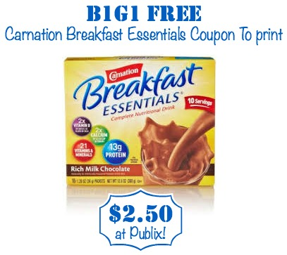 Thousands of free coupons including printable coupons for retail stores, manufacturer grocery coupons for groceries, & promo codes for online shopping Carnation instant breakfast essentials coupons. Carnation instant breakfast essentials coupons.