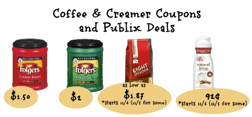 Coffee and Creamer Coupons Roundup and Publix Deals