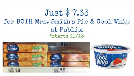 Great Cool Whip and Mrs. Smith's Pie Coupon Perfect For the Holidays