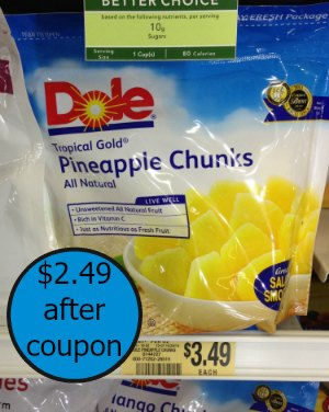 Rare Dole Frozen Fruit Coupon and Publix Deal - Just $2.49