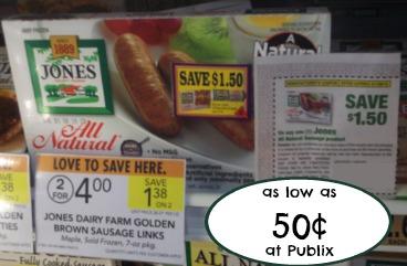 Cheap Jones Sausage Deal At Publix - As Low As 50¢