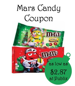 Mars Candy Printable Coupons and Publix Deal - As Low as $2.87