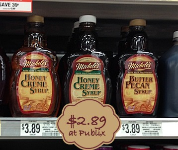 Remind to Print Michele's Syrup Coupons For Nice Publix Deal