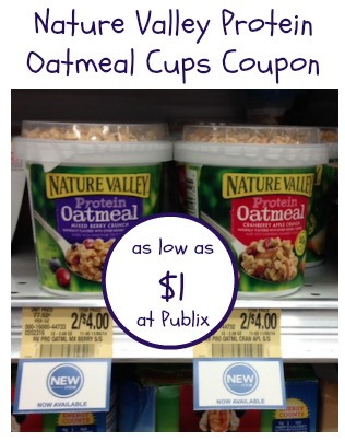 Nature Valley Protein Oatmeal Coupon and Publix Deal