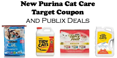 Big Purina Cat Care Target Coupon and Publix Deals