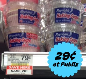 Cheap Reynolds Baking Cups Deal at Publix - Just 29¢