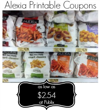 Alexia Printable Coupons And Publix Deal - Up To $2.50 off 2