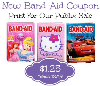 New Band Aid Coupon To Print For Our Publix Sale - Just $1.25