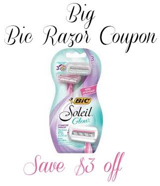 Another Big Bic Razor Coupon To Print - Save $3