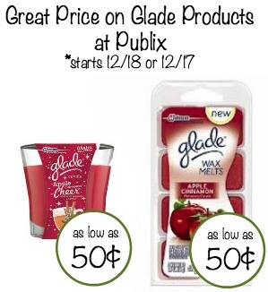 Great Price On Glade Products at Publix - As Low As 50¢
