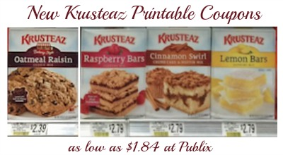 New Krusteaz Printable Coupons And Publix Deals