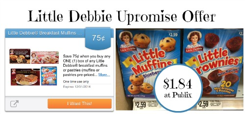 Little Debbie Upromise Offer and Publix Deal - Just $1.84