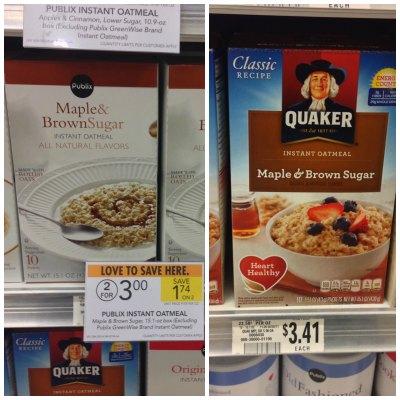publix oatmeal