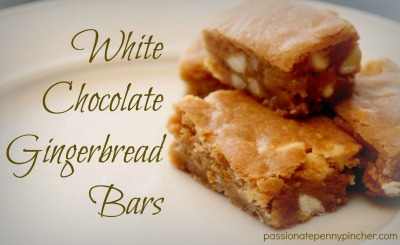 White Chocolate Gingerbread Bars - Passionate Penny Pincher Recipe