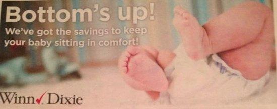 Winn Dixie Baby Coupons - Bottom's Up Flyer