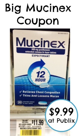 picture about Mucinex Printable Coupon referred to as Massive Mucinex Printable Coupon and Publix Offer - Conserve $2 Off