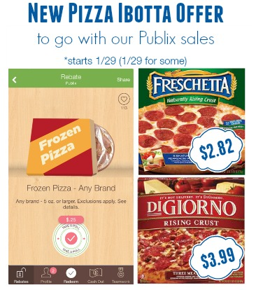 New Pizza Ibotta Offer for Great Deals at Publix - As Low As $2.82