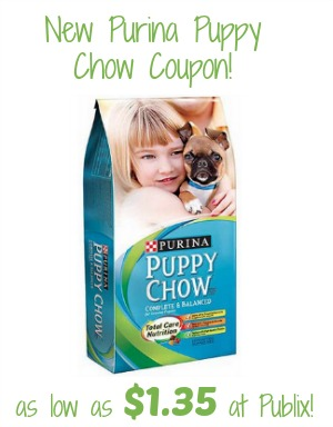 New Purina Puppy Chow Coupon To Print - As Low As $1.85