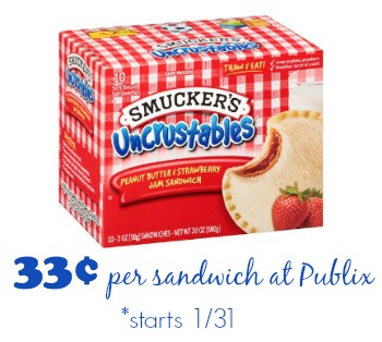 Print Your Uncrustables Coupons For Upcoming Publix Deal
