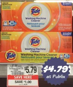Tide Washing Machine Cleaner is designed to care for your machine by removing soil, mineral, and detergent residue that may accumulate in the washer over time.