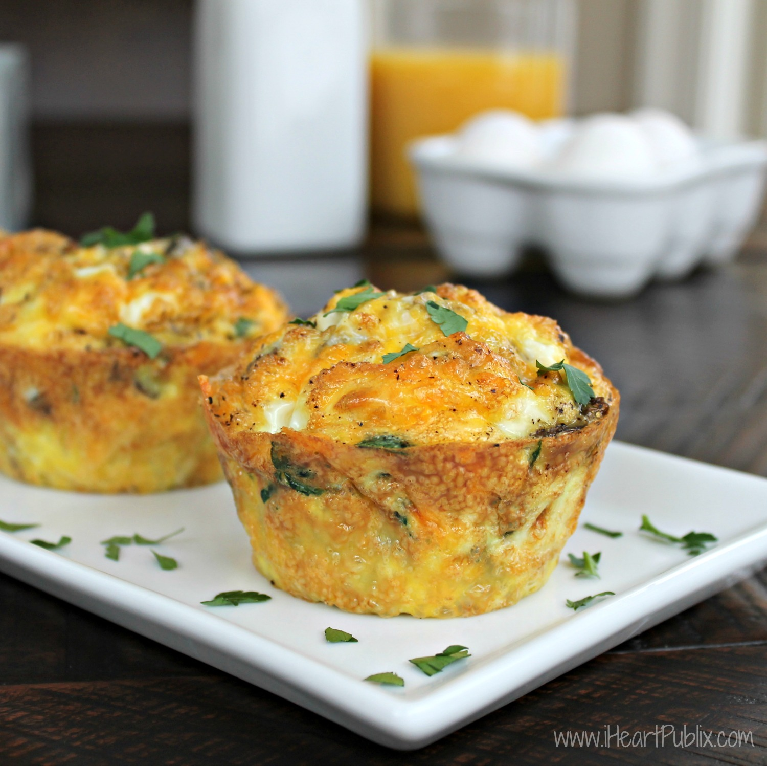 Egg Muffins with Sausage, Spinach & Mushrooms