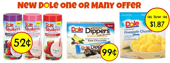 New Dole One Or Many Offer + Cheap Publix Deals