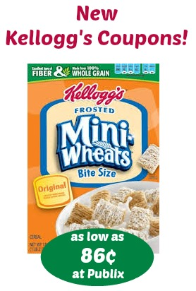 New Kellogg's Cereal Coupons For Our BOGO Sale