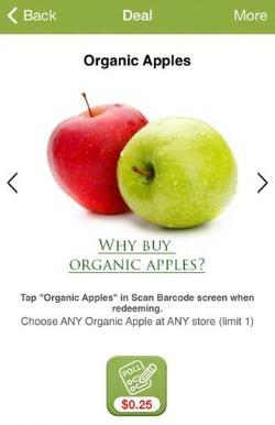 organic apples berry cart