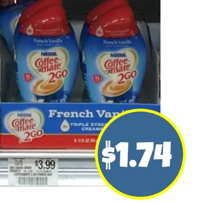 Coffee-Mate 2 Go Creamer Coupon and Publix Deal – Just $1.74