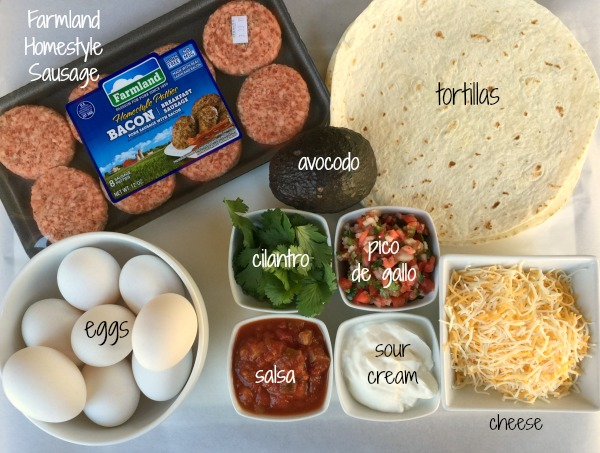 Farmland burrito ingredients