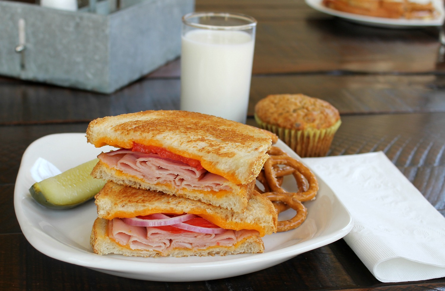 Grilled Ham and Cheese Sandwich with Hillshire Farms Naturals