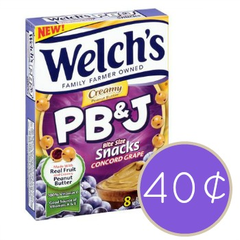 Welch's Fruit Snacks or PB&J Bite Size Snacks