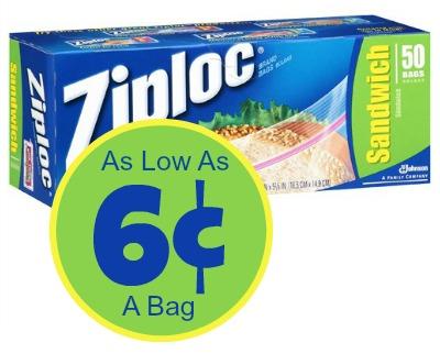 Ziploc - As Low As 6¢ A Bag At Publix