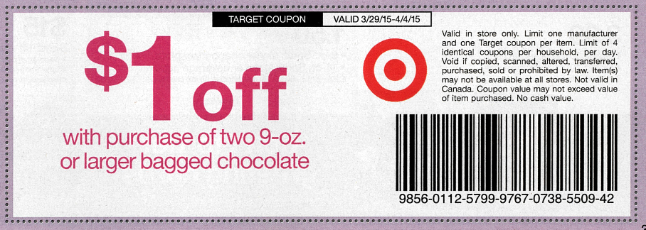 sunday coupon preview chocolate target coupon