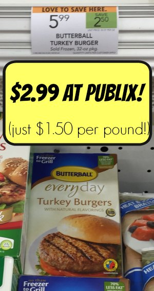 Butterball Turkey Burgers - Publix