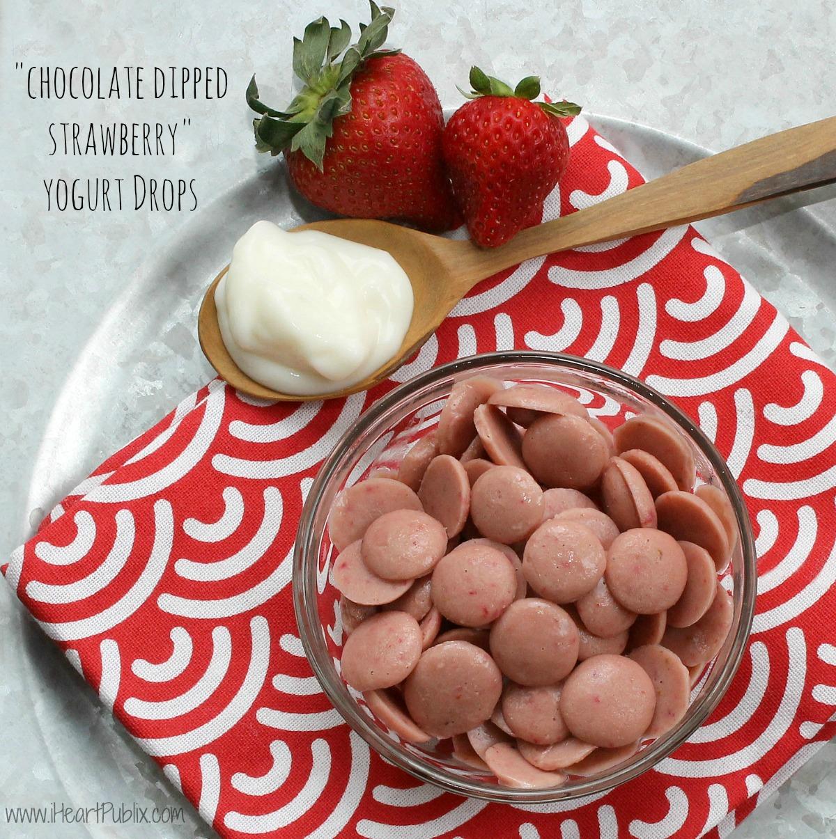 Chocolate Dipped Strawberry Yogurt Drops