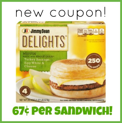 Jimmy Dean Delights Sandwiches Coupon