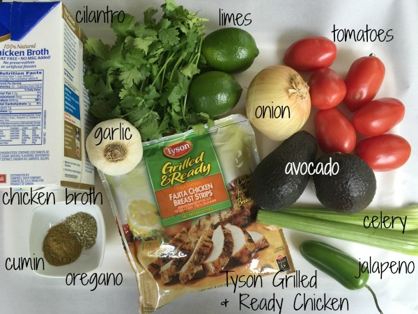 Mexican Soup Ingredients