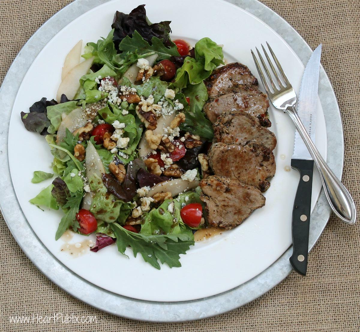 Peppercorn & Garlic Pork Tenderloin Salad--