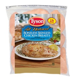 Tyson® Individually Frozen Boneless Skinless Chicken Breasts