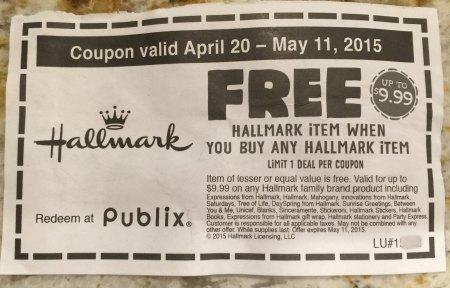 hallmark coupon publix