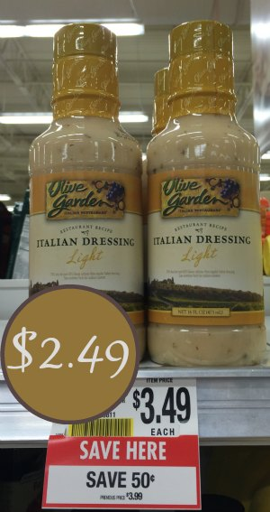 Olive Garden Dressing As Low As At Publix