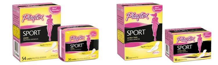 playtex sport liners pads