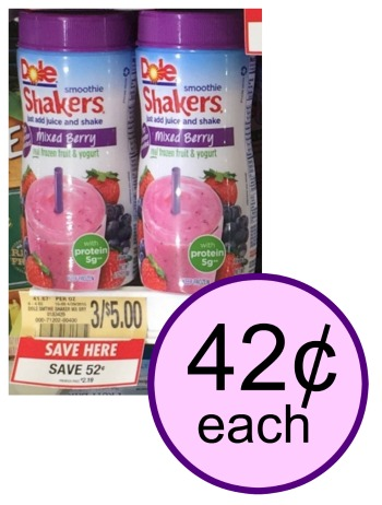 Dole Smoothie Shakers As Low As 42 At Publix