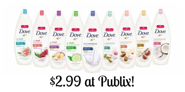 Dove Body Wash Just $2.99 At Publix - Big Discount!