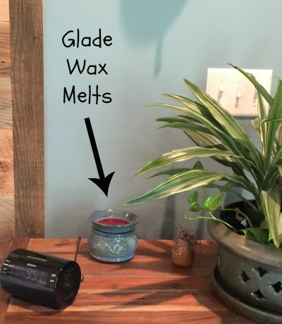 glade wax melts bedroom