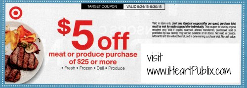 target meat produce coupon